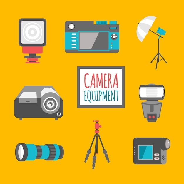Flat camera equipment pack