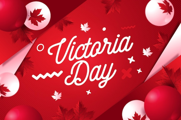 Flat canadian victoria day illustration Free Vector