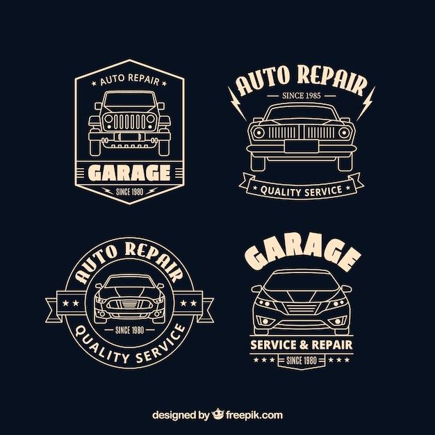 Flat car logos collection Free Vector