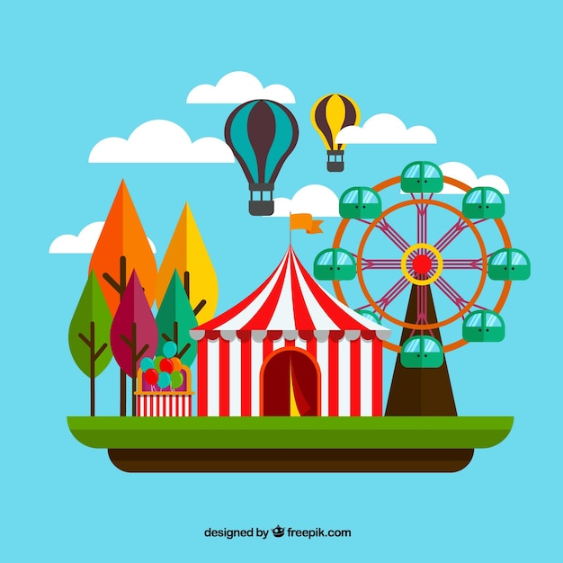 Flat Carnival Background Vector Free Download