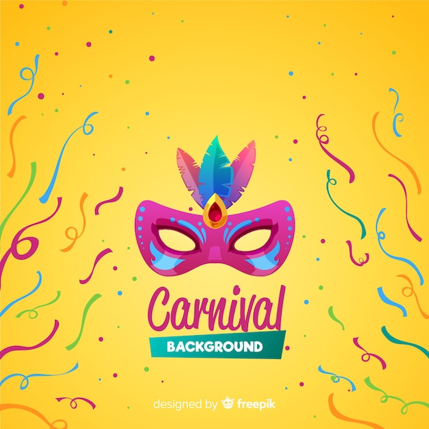 Flat carnival background Free Vector