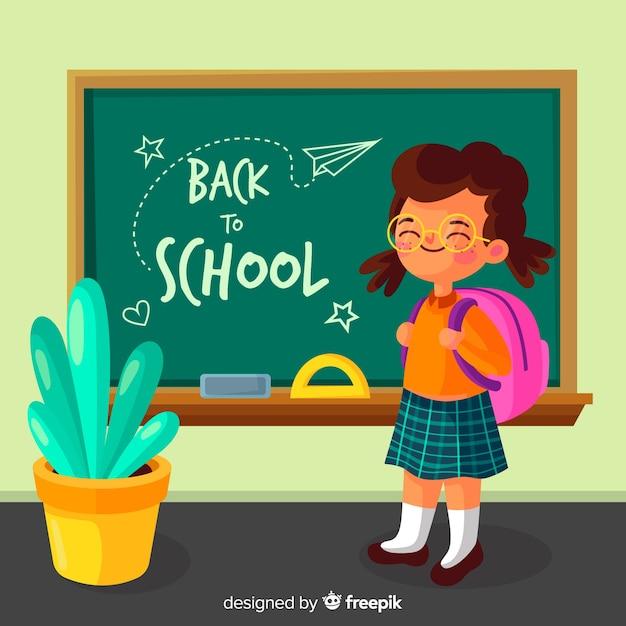 Flat children back to school collection Premium Vector