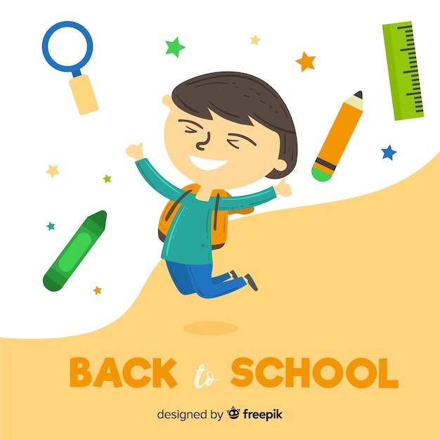 Flat children back to school Free Vector