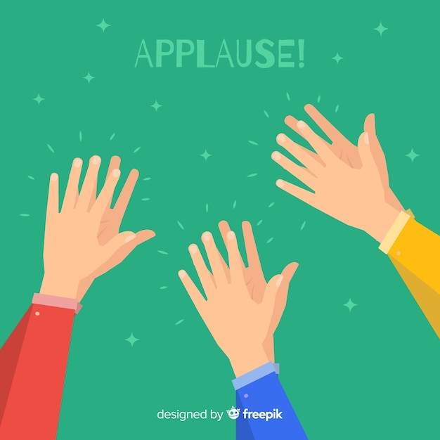 Flat colorful applause background Free Vector