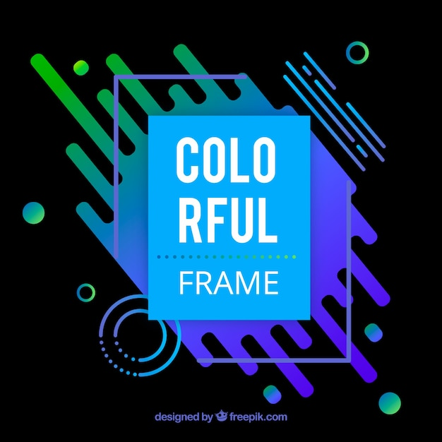 Flat colorful frame background Free Vector