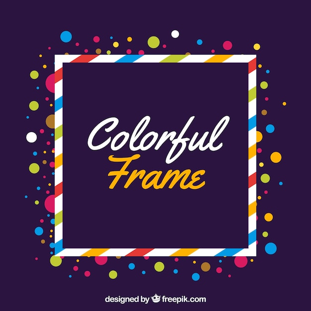 Flat colorful frame Free Vector