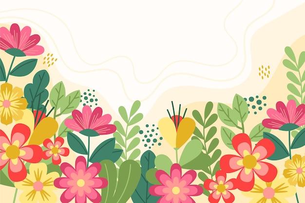 Carta da parati piatta colorata primavera Vettore gratuito