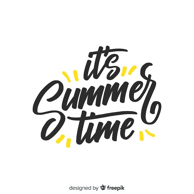 Flat colorful summer lettering background Free Vector