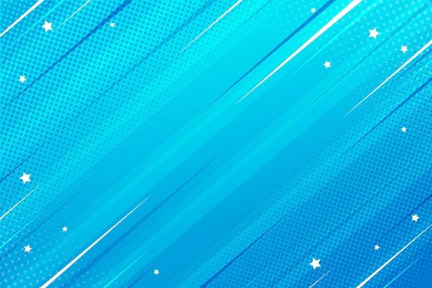 Плоский стиль комиксов фон скорость синий Бесплатные векторы