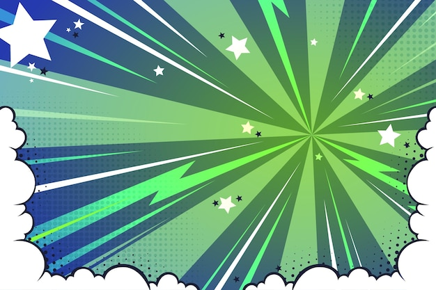 Flat comic style wallpaper Free Vector