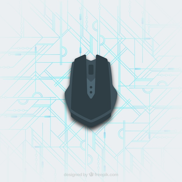 Плоская компьютерная мышь Бесплатные векторы