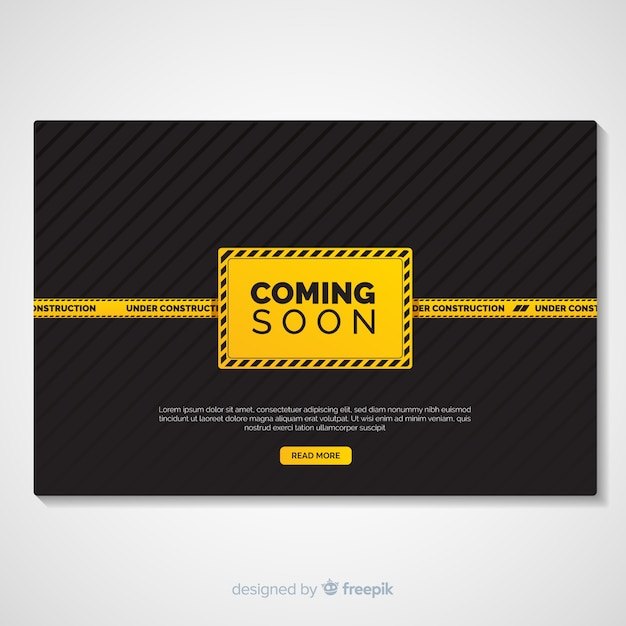 Flat under construction landing page Free Vector