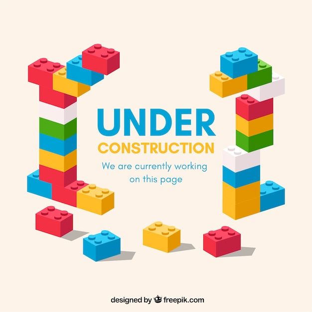 Flat under construction template Free Vector