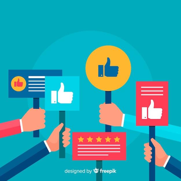 Flat customer satisfaction concept Free Vector