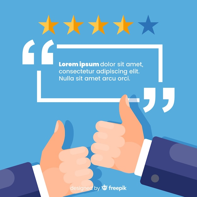 Flat customer satisfaction design Free Vector