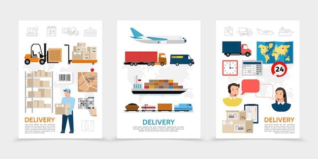 Poster di consegna piatti Vettore gratuito