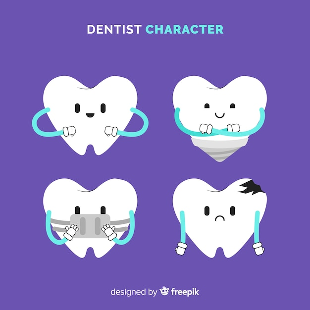 Flat dentist character Free Vector