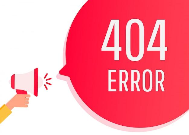 Плоский дизайн 404 ошибка на странице сайта Premium векторы