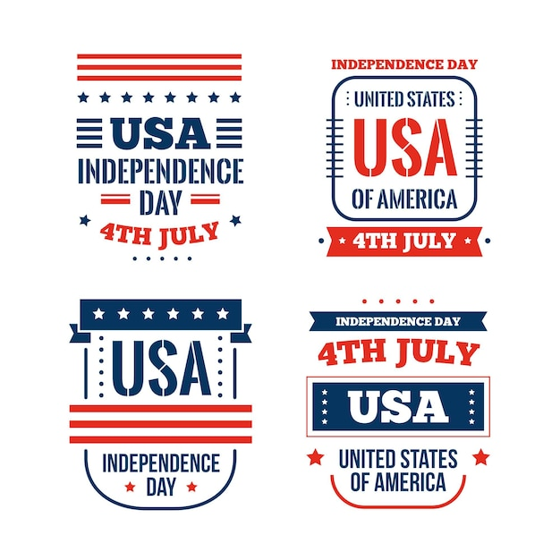 Flat design 4th of july event Free Vector