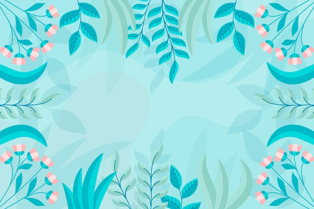 Flat design abstract floral background concept Free Vector
