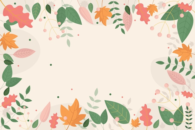 Flat design abstract floral wallpaper theme Free Vector