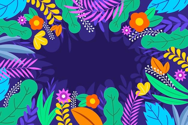 평면 디자인 추상 꽃 벽지 무료 벡터