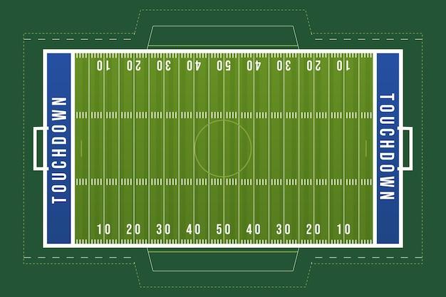 Campo di calcio americano design piatto Vettore gratuito