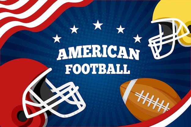 Flat design american football Free Vector