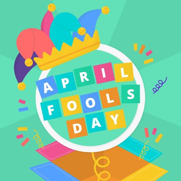 Плоский дизайн апреля день дураков концепция Бесплатные векторы
