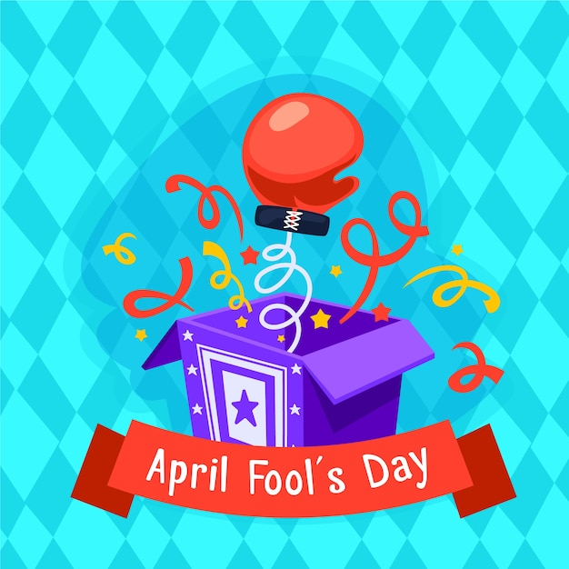 Flat design april fools day concept Free Vector