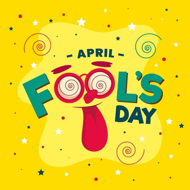 Flat design april fools day concept Free Vector