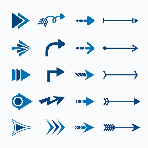 Flat design arrow collection Free Vector