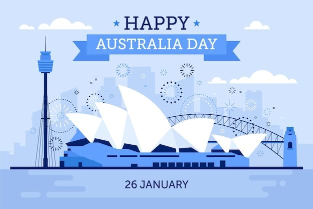 Illustrazione del ponte di giorno di design piatto australia Vettore gratuito