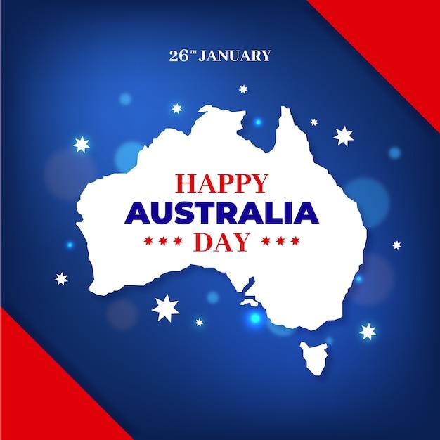 Concetto di design piatto giorno australia Vettore gratuito