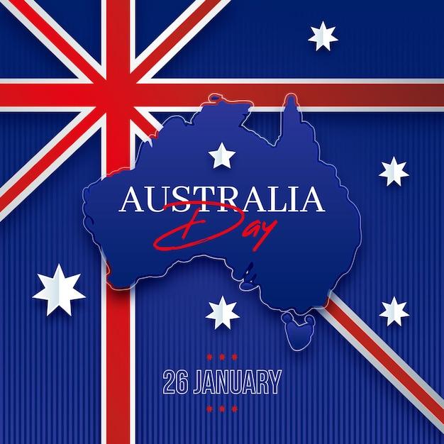 Concetto di giorno di design piatto australia Vettore gratuito