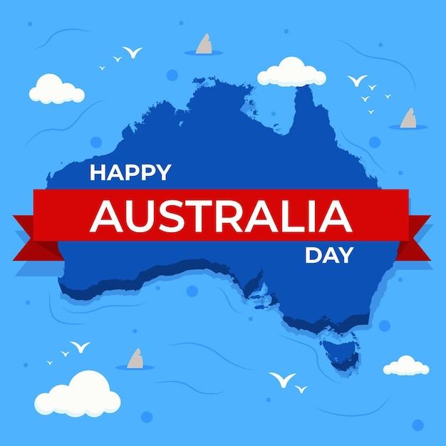 Design piatto australia day Vettore gratuito