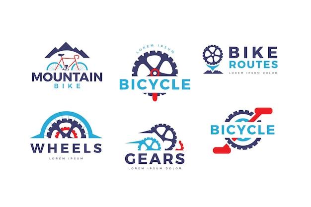 Collezione di logo bici design piatto Vettore gratuito