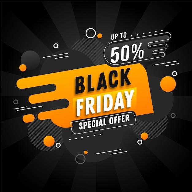Banner di venerdì nero design piatto Vettore gratuito