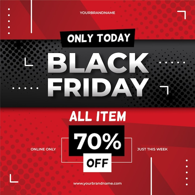 Flat design black friday concept Free Vector