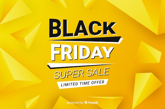 Flat design black friday  sale banner Free Vector