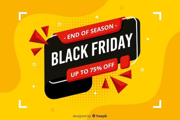 Flat design black friday sale banner Free Vector