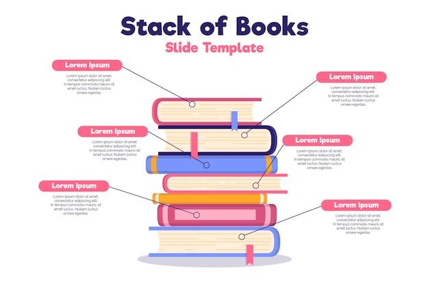 Плоский дизайн книжный инфографический шаблон Бесплатные векторы