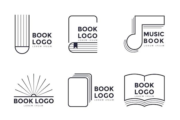 Плоский дизайн логотипа книги Бесплатные векторы