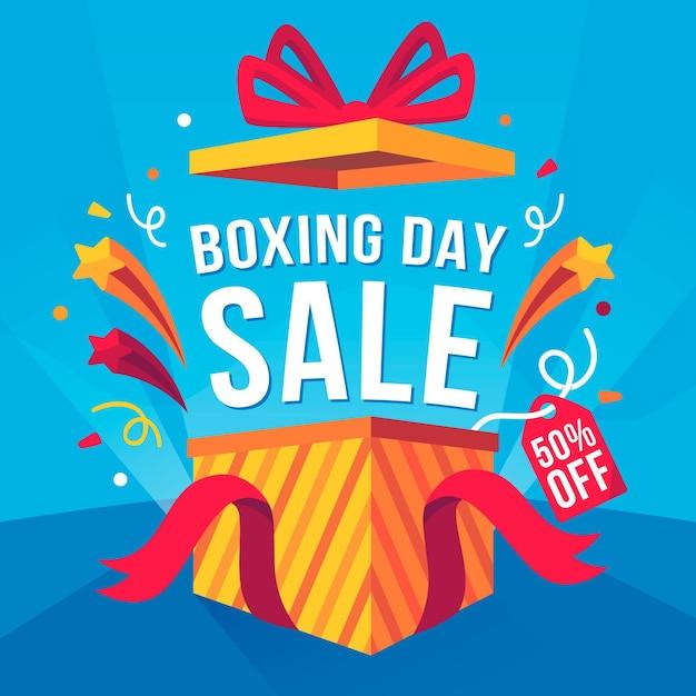 Vendita di boxe day design piatto Vettore gratuito