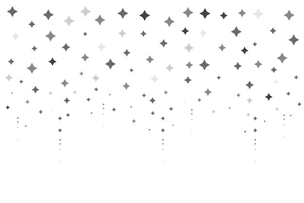 Flat design bright stars background Free Vector