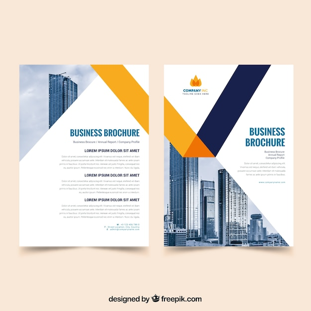 Flat Design Brochure Template Vector Free Download - Brochure templates free download