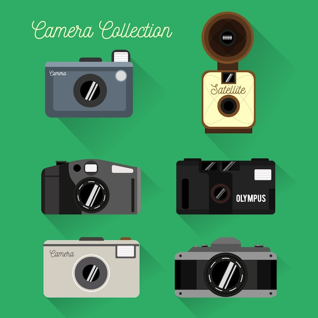 Flat design camera collection
