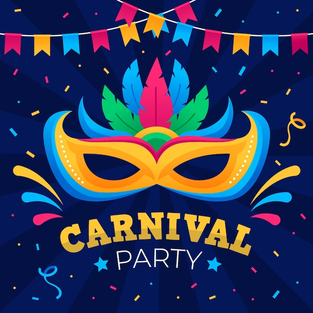 Flat design carnival concept Free Vector