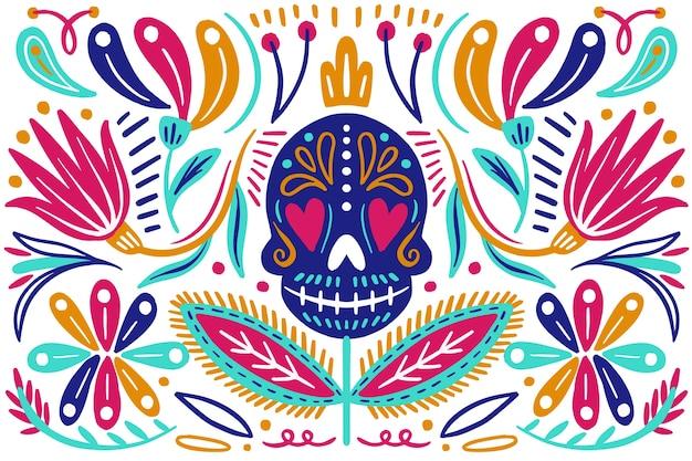 Плоский дизайн красочный мексиканский фон Бесплатные векторы