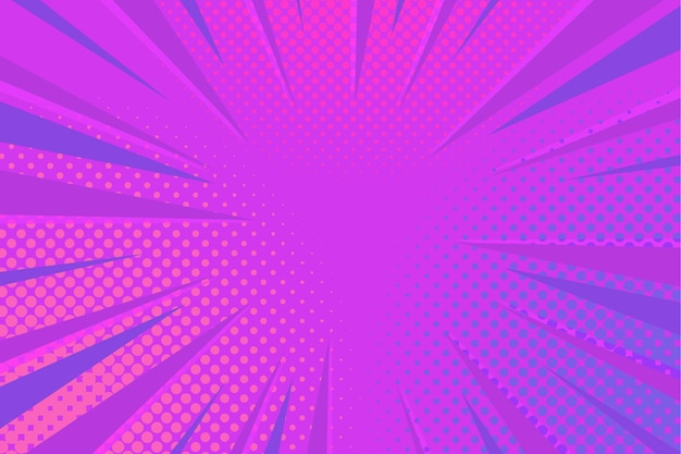 Flat design comic style background Free Vector